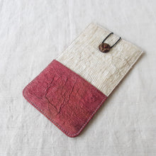 Load image into Gallery viewer, RANTA Cerise Béa - Barkcloth Phone Pouch