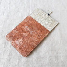 Load image into Gallery viewer, RANTA Coral Béa - Barkcloth Phone Pouch