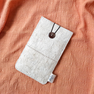 Barkcloth Phone Pouch - Pure Bea