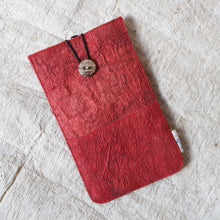 Load image into Gallery viewer, Barkcloth Phone Pouch - Morinda