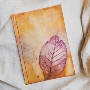 Ecoprinted Journal | Tectona Sunset