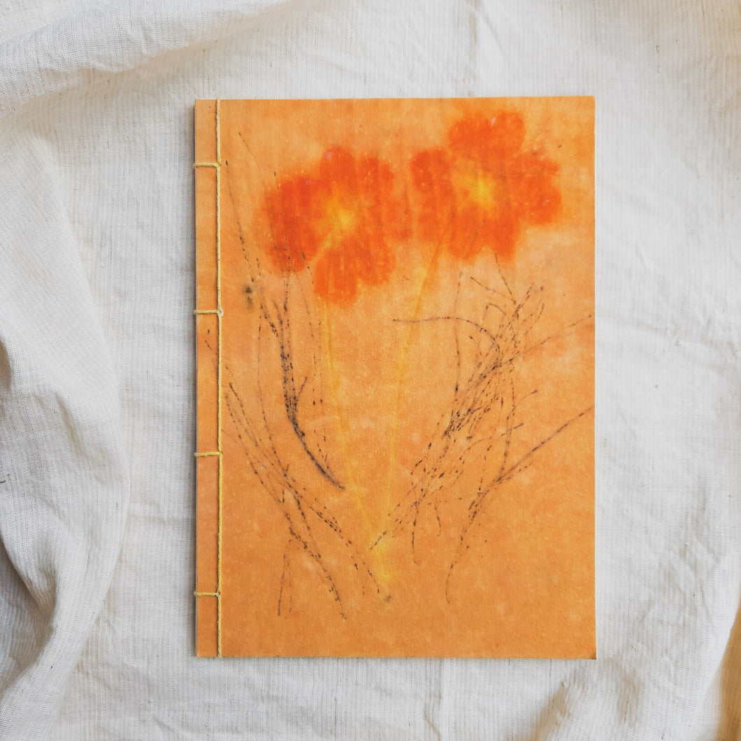 Ecoprinted Journal | Cosmos Garden