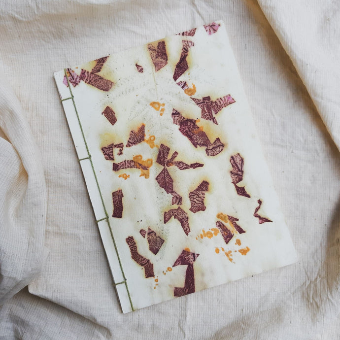 Ecoprinted Journal | Tectona Slivers