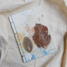 Load image into Gallery viewer, Ecoprinted Journal | Blue Orchard
