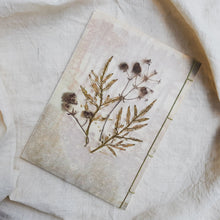 Load image into Gallery viewer, Ecoprinted Journal | Cosmos Tectona Flora
