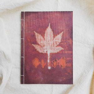 Ecoprinted Journal | Magenta Acetosella