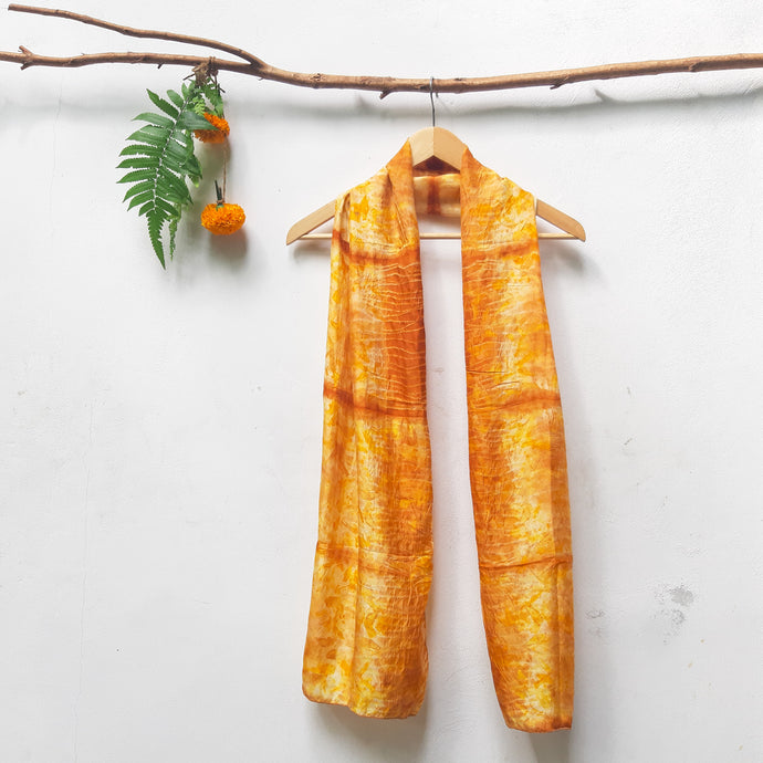 UMA Bundle-Dyed Medium Silk Scarf - Magic Marigold