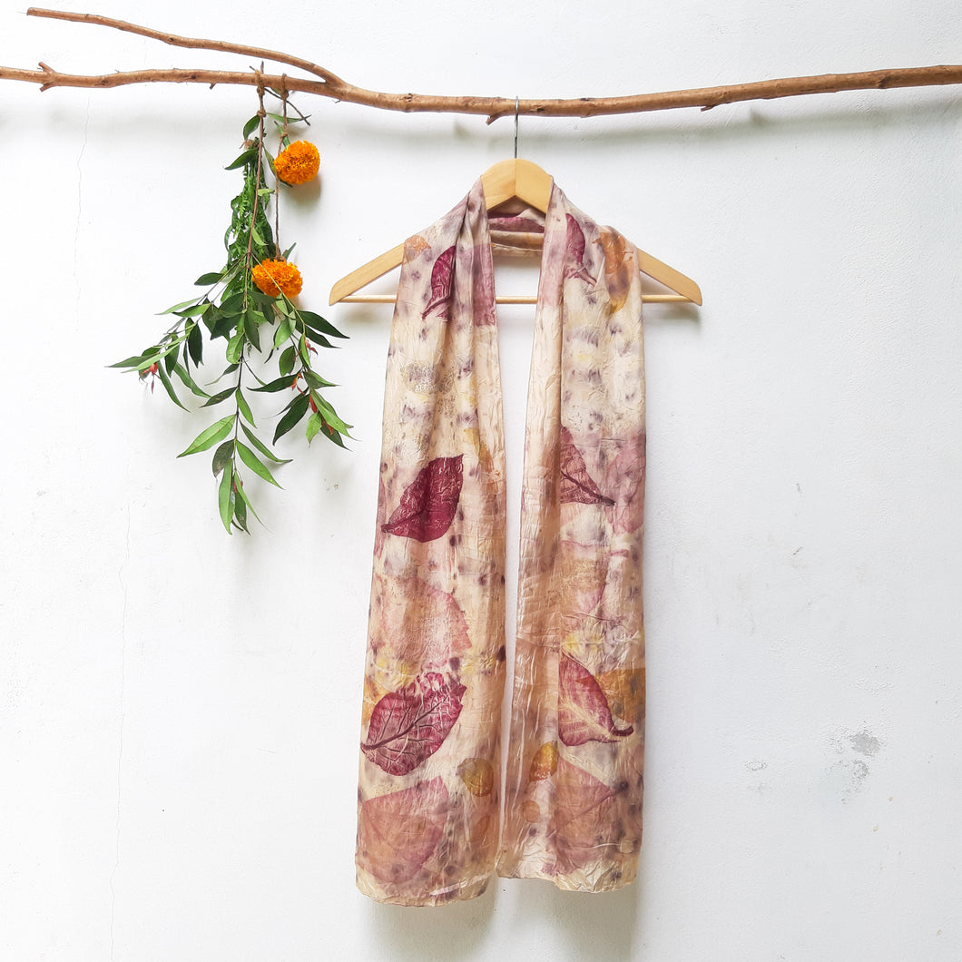 UMA Bundle-Dyed Medium Silk Scarf - Teak Charm