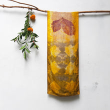 Load image into Gallery viewer, UMA Bundle-Dyed Medium Silk Scarf - Teak and Tiles
