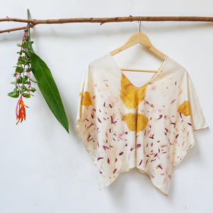 UMA Organic Cotton Crop Tunic - Teak Indian Trumpet