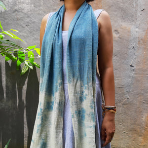 CLOUD Indigo Medium Cotton Gauze Scarf