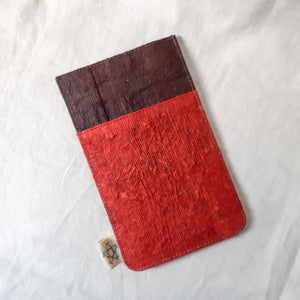 Barkcloth Phone Pouch - Mud Morinda
