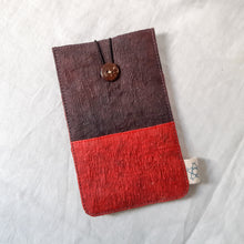 Load image into Gallery viewer, Barkcloth Phone Pouch - Mud Morinda