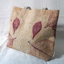 Load image into Gallery viewer, Barkcloth Artist Tote - Prose of Teak 02