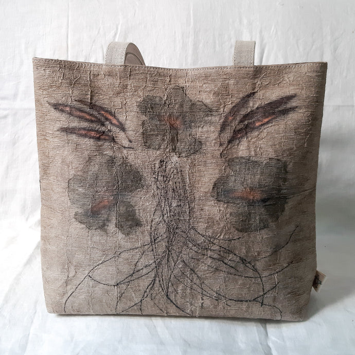 Barkcloth Artist Tote - Prose of Hibiscus 02