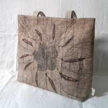 Load image into Gallery viewer, Barkcloth Artist Tote - Prose of Hibiscus 01