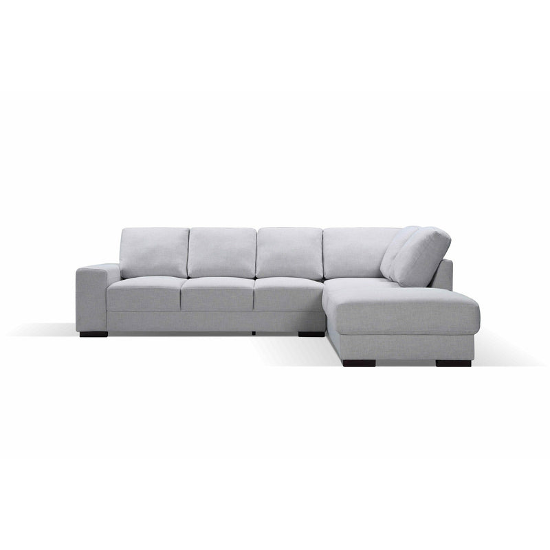SOFA RHF 3S Chaise / Limestone Fabric BOSTON LARGE PACKAGE