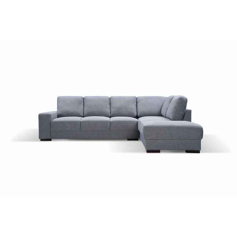 SOFA RHF 3S Chaise / Granite Fabric BOSTON LARGE PACKAGE