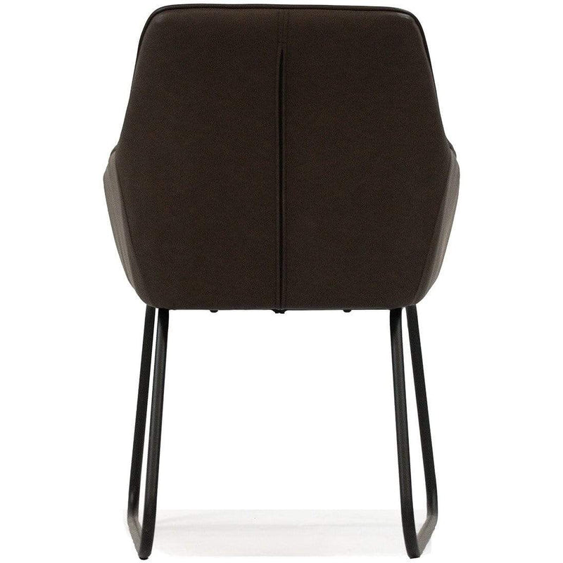 LIVING Armchair / Dark Brown PU Brooks - Armchair