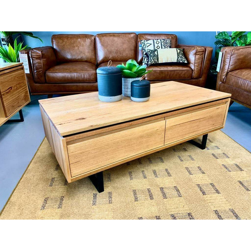 LIVING Coffee Table / Natural Messmate Timber Chamberlain - Coffee Table