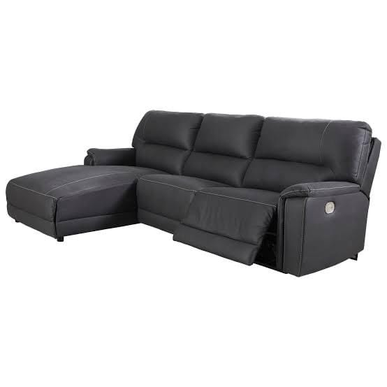 SOFA LHF Reclining Chaise Lounge / Midnight Fabric Henefer - Reclining Chaise Lounge