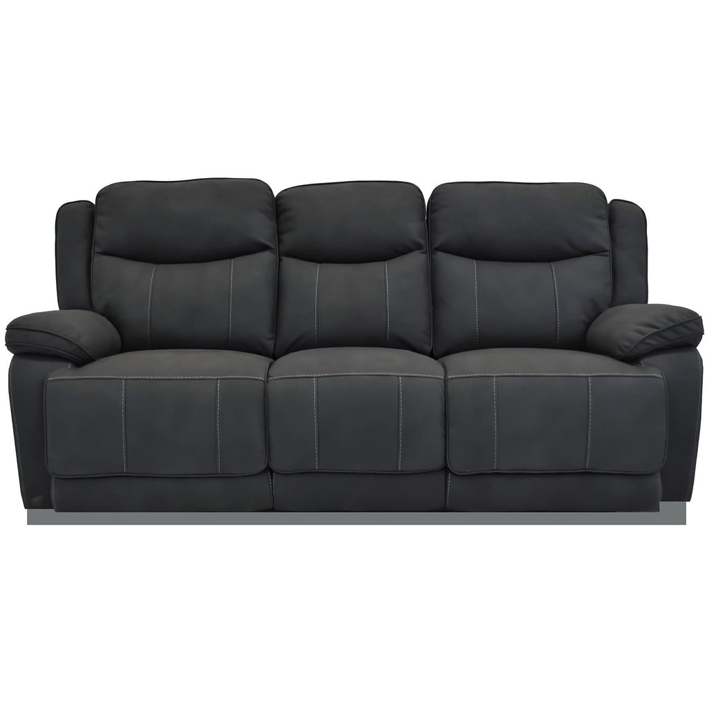 SOFA 3RR / Black Suede Justin - 3 Seater
