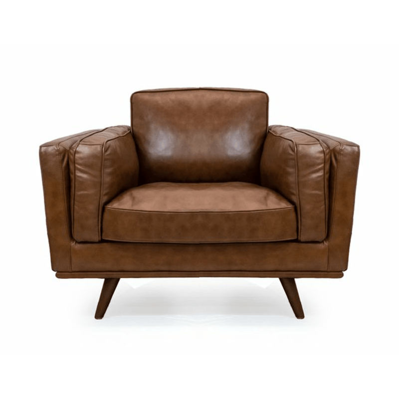 SOFA Armchair / Brown Leather Mayfair - Armchair