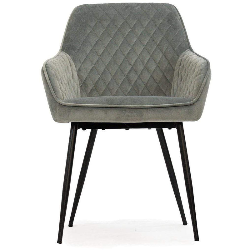 DINING CHAIR Chair / Grey Velvet Milton - Chair
