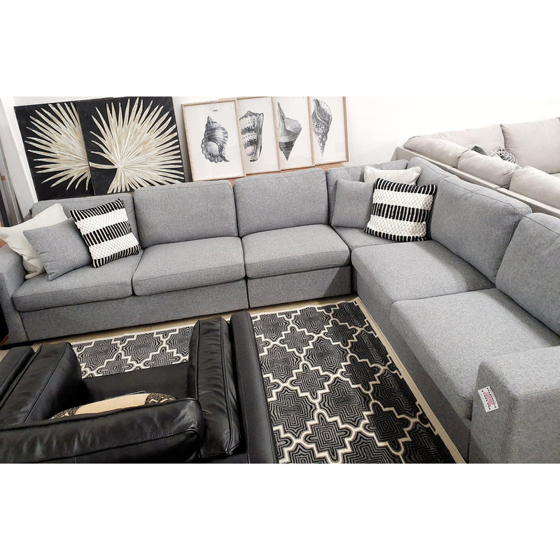 SOFA Corner Lounge w/ Sofa Bed / Dim Grey Fabric Pearcedale - Corner Lounge