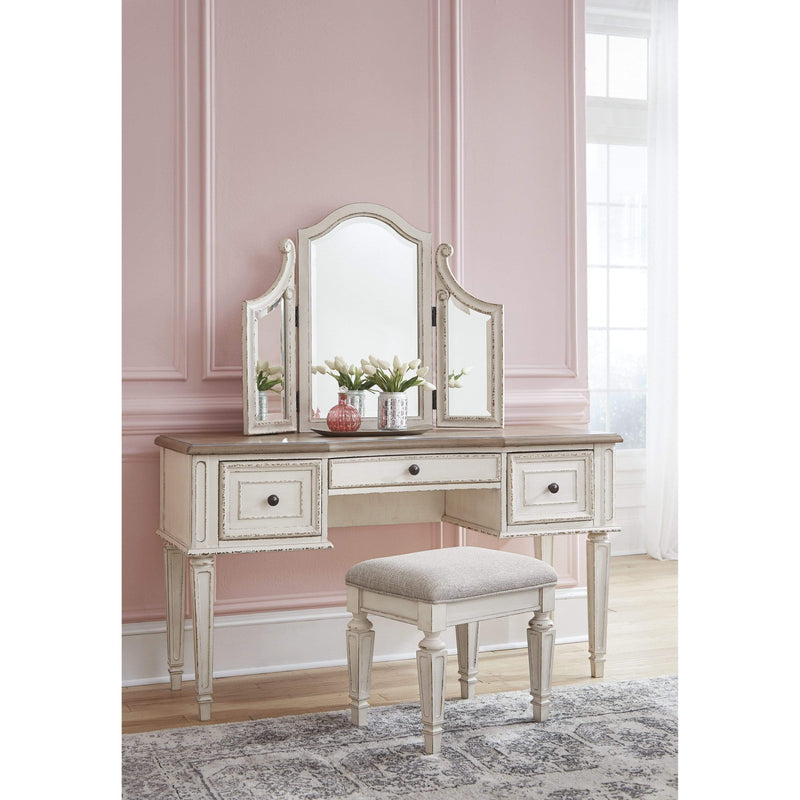 ASH Vanity/Mirror/Stool 3/Cn / Two Tone Realyn - Vanity/Mirror/Stool