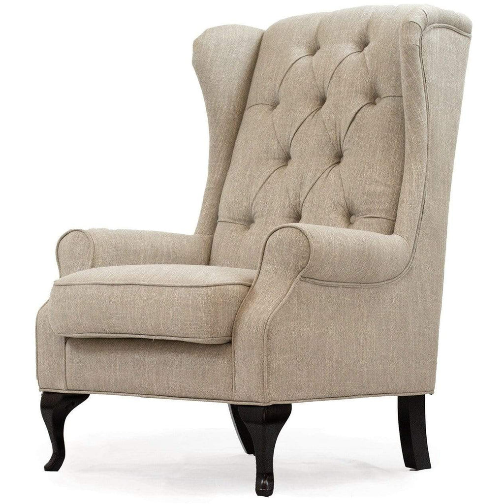 LIVING Wing Chair / Moonlight Fabric Victoria - Wing Chair