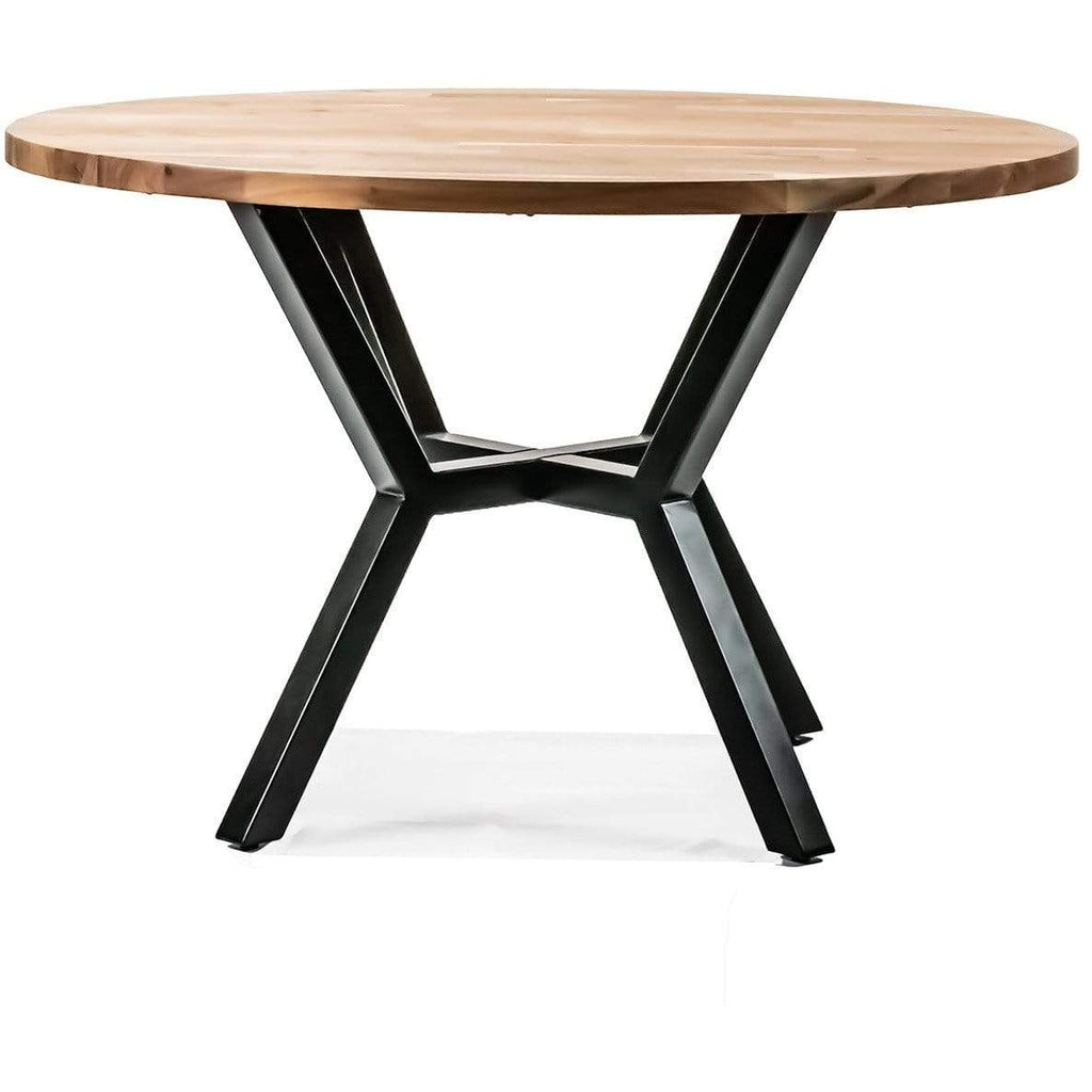 DINING TABLE Dining Table Round 1200 / Natural Acacia - Timber Xavier - Round Dining Table