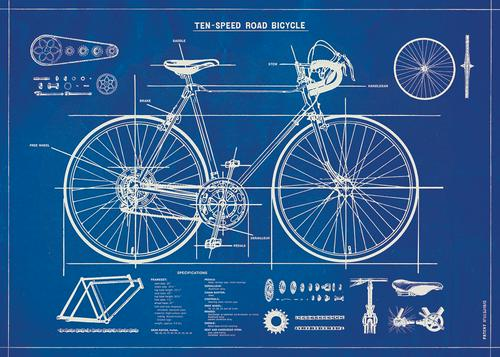 Bicycle Blueprint Poster/Wrap