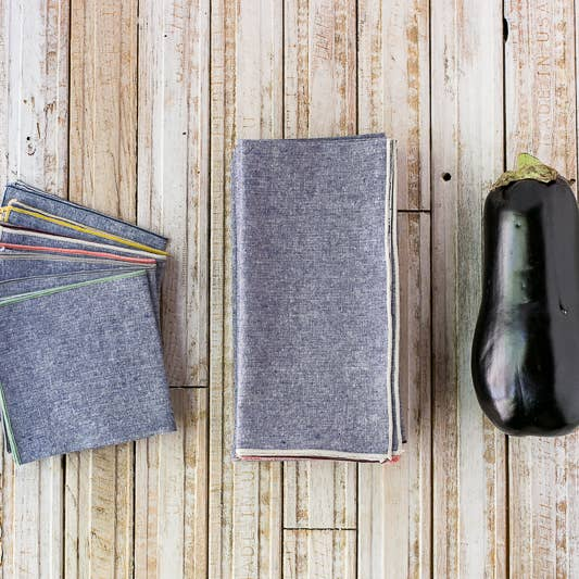 Denim Chambray Cloth Napkins
