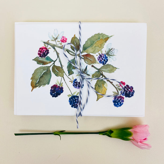 Notecard Set - Wild Raspberries