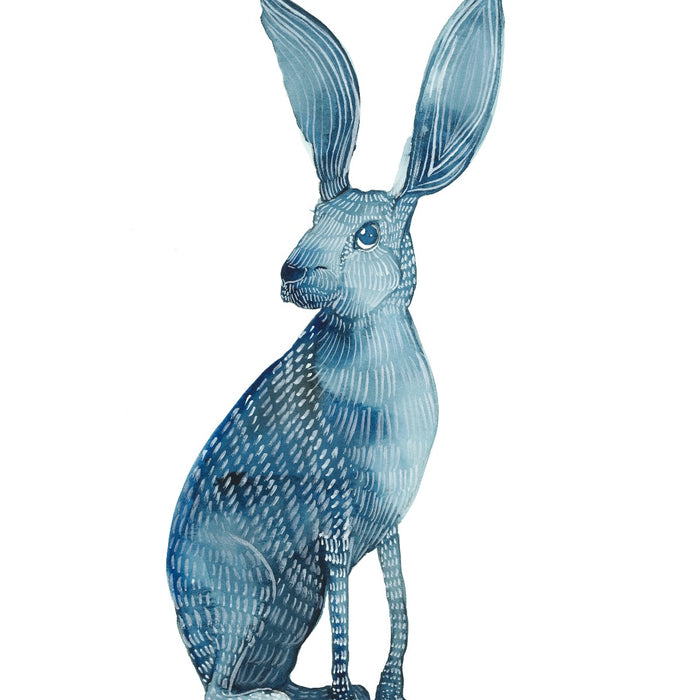 Art Print- Blue Jackrabbit