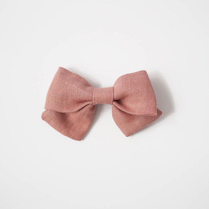 Medium Sailor Bows- Dusty Rose, Alligator Clip
