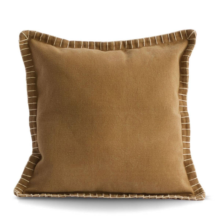 Stone Washed Cotton Pillow- Beige