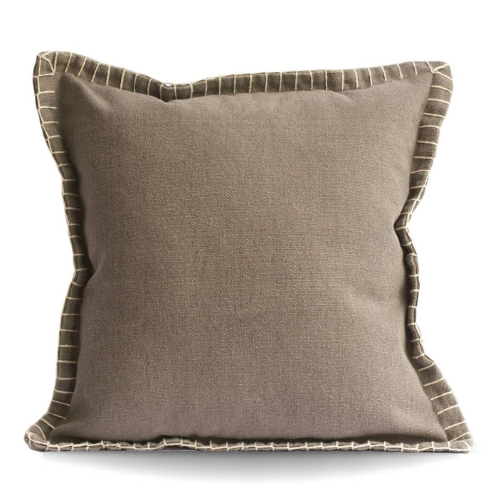 Stone Washed Cotton Pillow- Gray