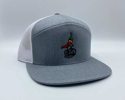 MTB Grey/White hat 7-Panel
