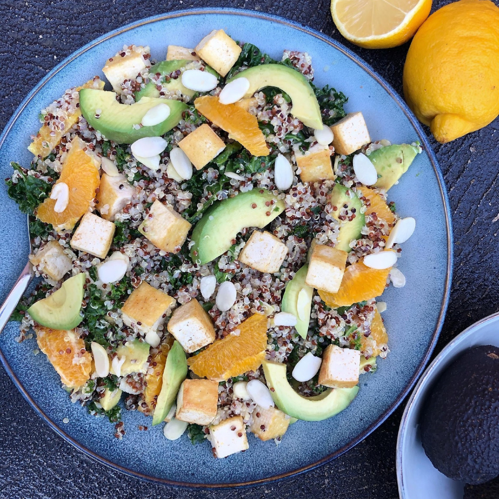 Quinoa, Tofu & Orange Salad