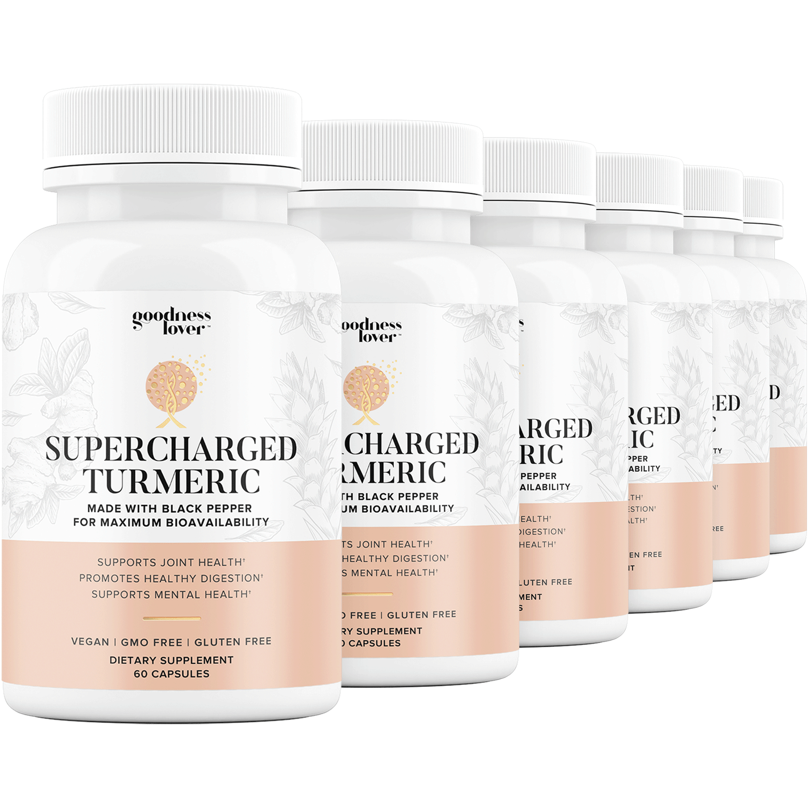 Supercharged Turmeric [6 Bottles]