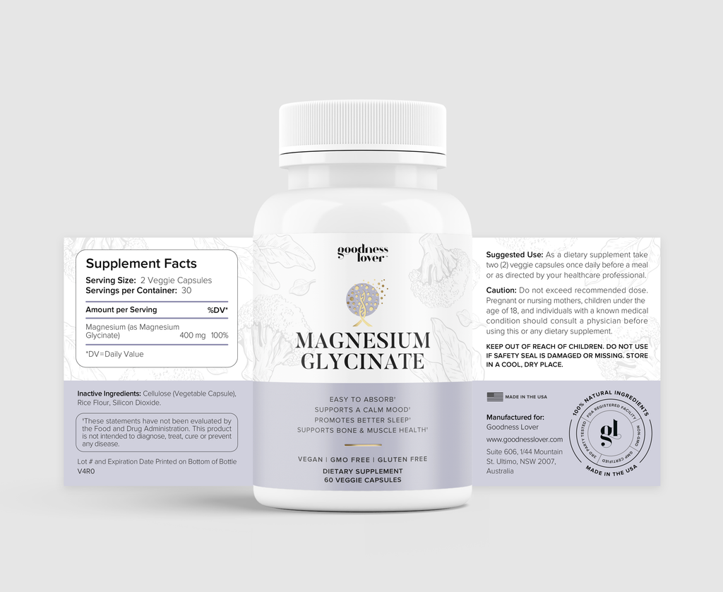 Magnesium Glycinate [6 Bottles]