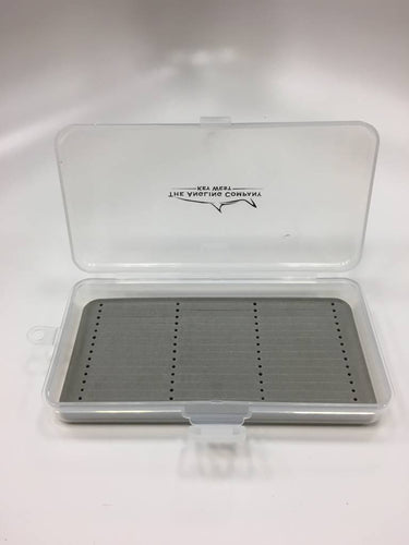 Clear fly box with foam