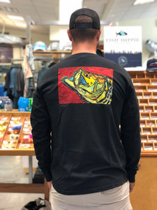 Tarpon on Red L/S T-shirt