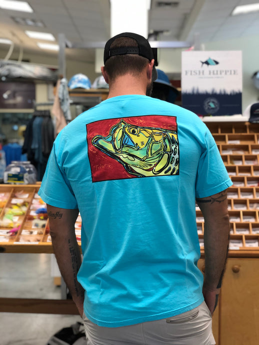 Tarpon on Red T-Shirt S/S