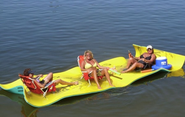 relaxing on a lake