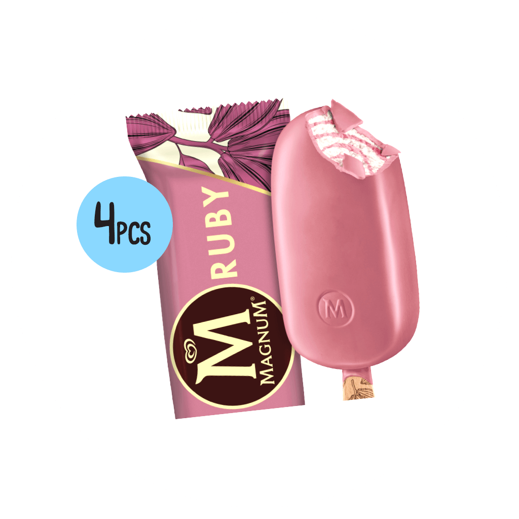 4 x Magnum Ruby Ice Cream Deal