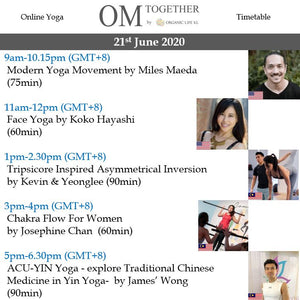 INTERNATIONAL YOGA DAY UNLIMITED PASS (21 June 2020) - up to 5 classes -