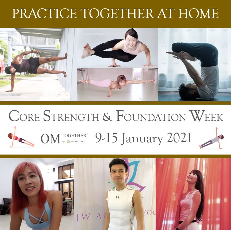 CORE STRENGTH & FOUNDATION -5 classes- (Recorded Videos Still available)